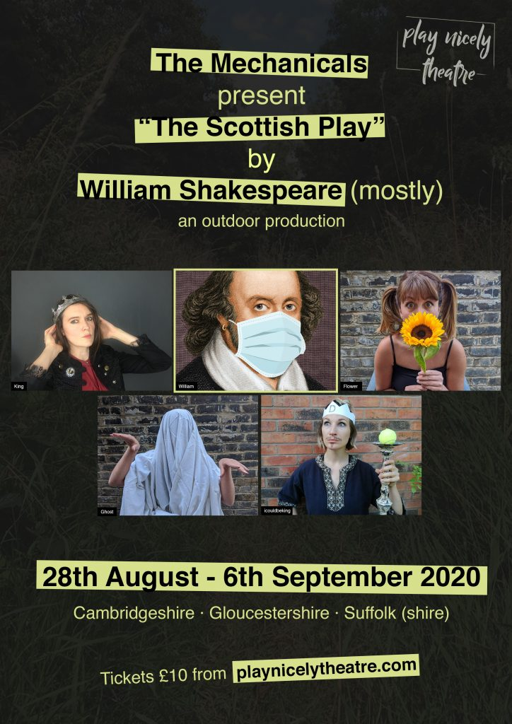 Play Nicely Theatre – Performances in Keyston, August 2020